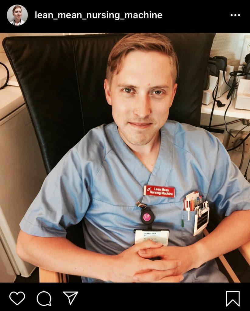 Bilde av Anders, kjent som Lean-mean-nursing-machine i Cingulum