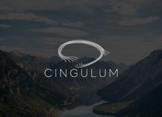 Cingulum logo på mørk landskapsbakgrunn