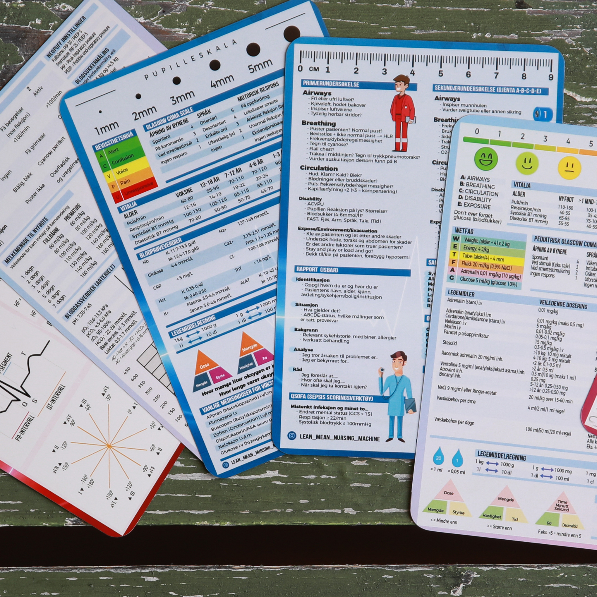 Bilde av medisinske referansekort ra Cingulum AS