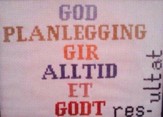 Bilde med tekst God planlegging gir alltid et godt resultat, Cingulum AS