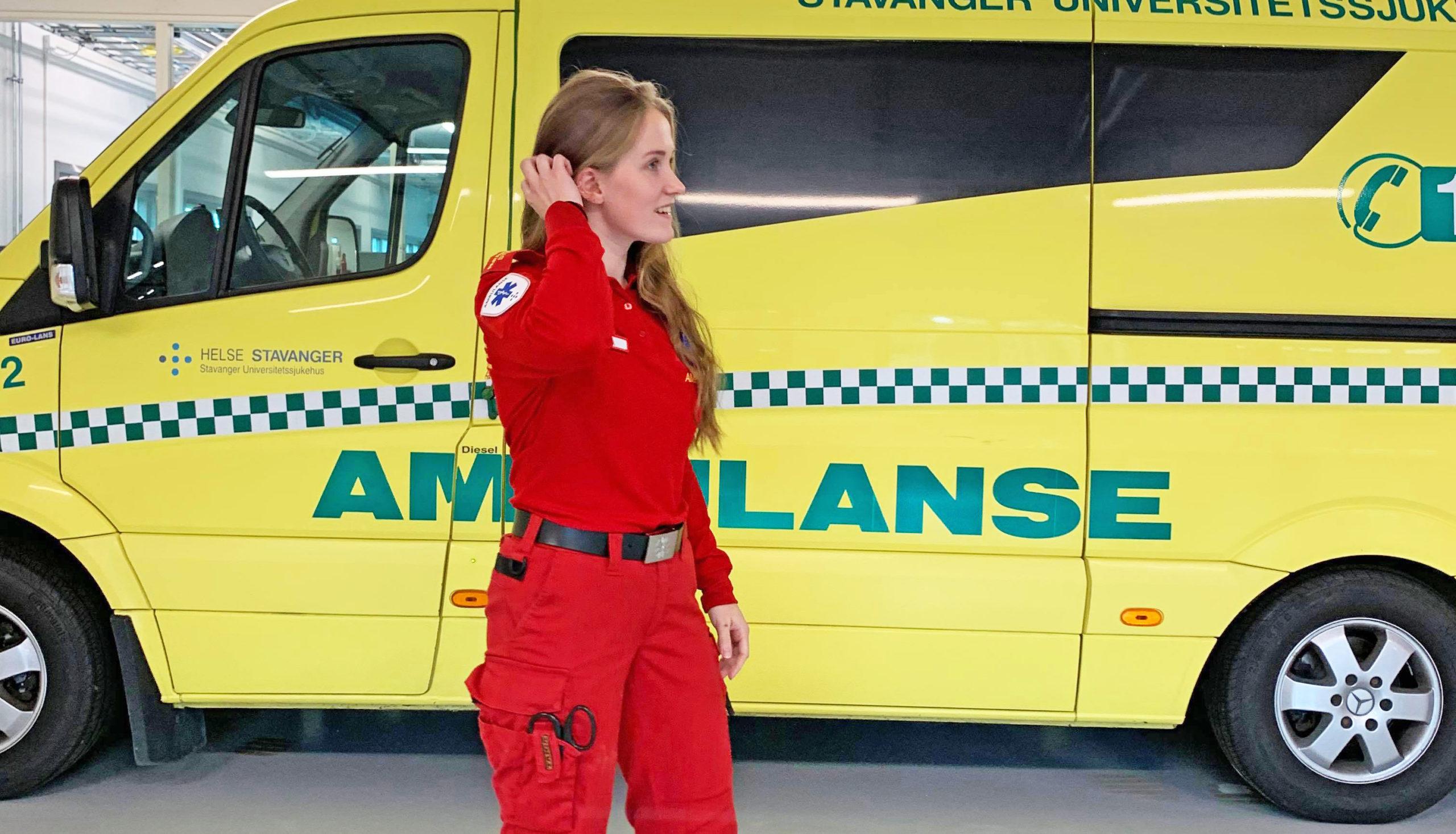 Bilde av Elina Espedal som paramedisinstudent, Cingulum