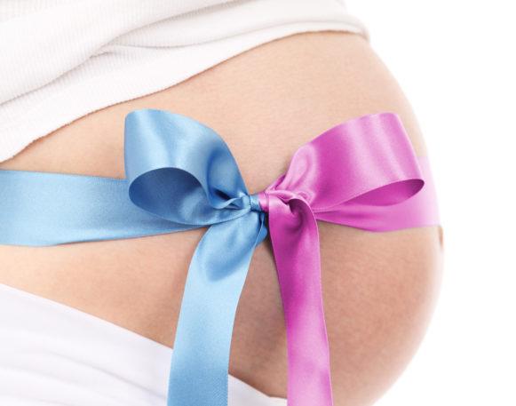 Bilde av gravidmage, til artikkel om Tvilling-til-tvilling transfusjonssyndrom, Cingulum